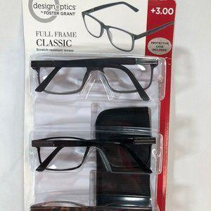 Foster Grant 3-pack Reading Glasses +3.00